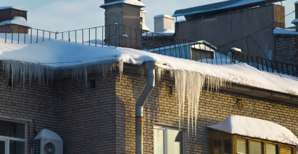snow and ice causes water damage