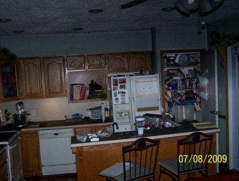Fire damage restoration before