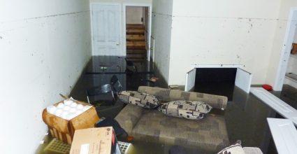 flooded basement damage
