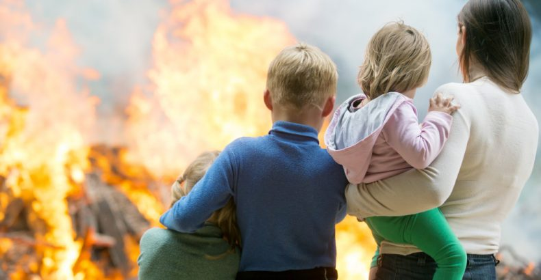 family devastated by fire
