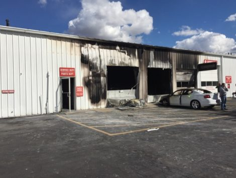emergency commercial fire damage