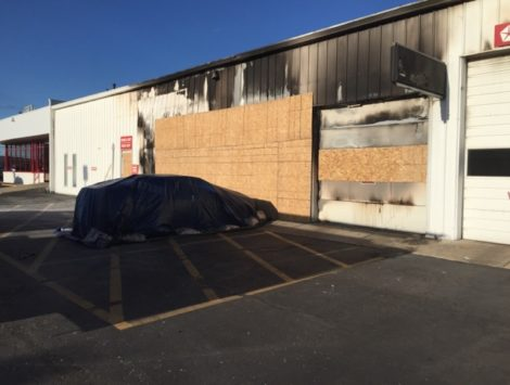 commercial emergency board up fire damage