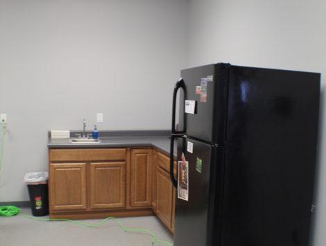 commercial remodel break room after