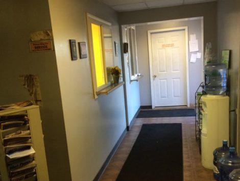 commercial remodel door before