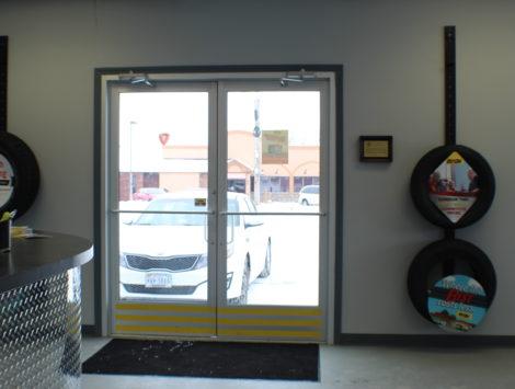 commercial remodel door after