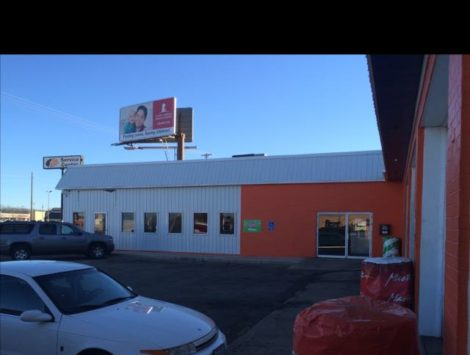 commercial remodel outside before