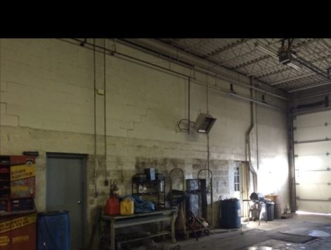 commercial remodel tire room before