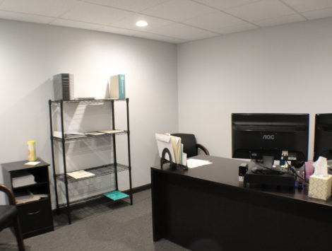 commercial remodel interior office after