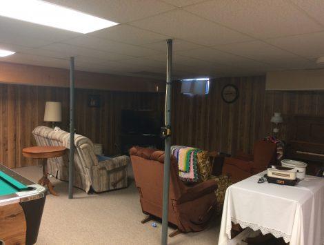 water damage basement after