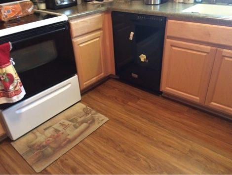 water damage kitchen after