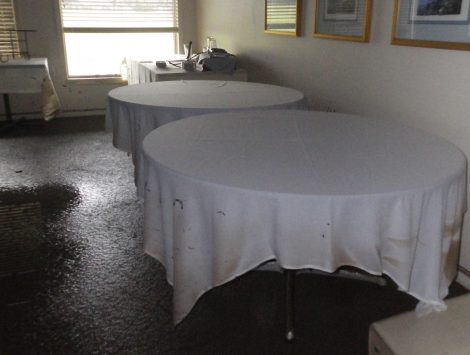 water damage restoration golf course banquet room before