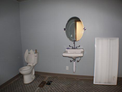 commercial remodel bathroom before