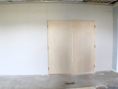 commercial remodel conference room before