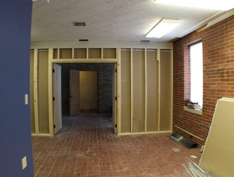 commercial remodel before