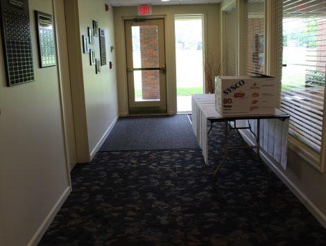 water damage restoration golf course hallway after
