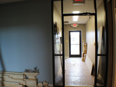 commercial remodel hallway before