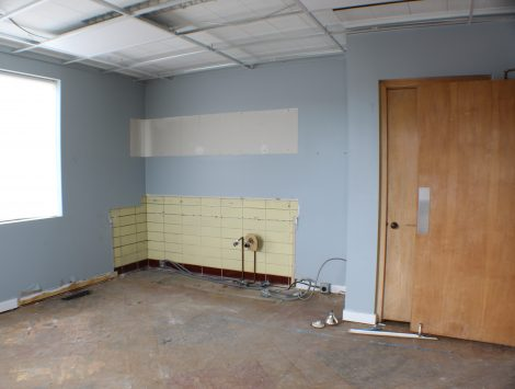 commercial remodel lobby before