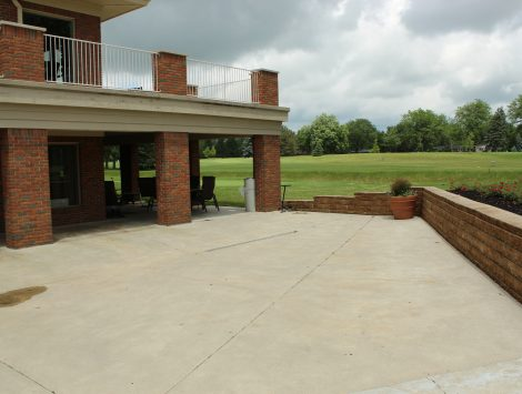 water damage restoration golf course outside after