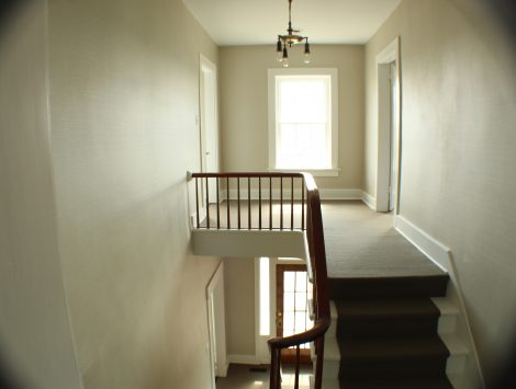 commercial remodel top of stairs after