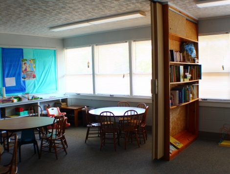 swartz contracting and emergency services fire damage Classroom A After (4)