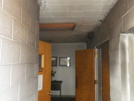 swartz contracting and emergency services fire damage before vestibule 1