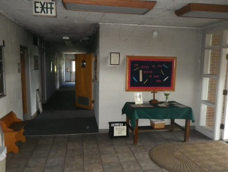 swartz contracting and emergency services fire damage before vestibule 12