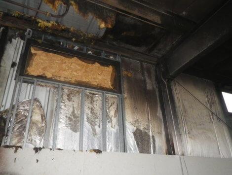 fire damage interior before