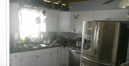Electrical Attic Fire Before